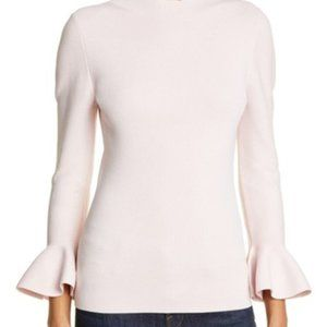 Ted Baker London Brinlo Frill Sleeve Sweater pink